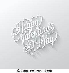 valentines nap, szüret, felirat, elvág papír, háttér