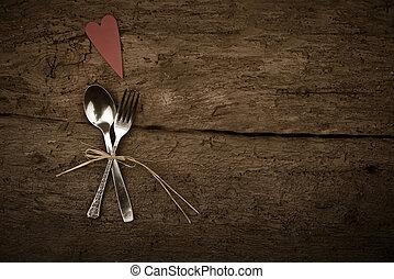 valentines, oder, rustic, hintergrund, weihnachtstag