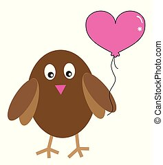 Valentines Owl with Balloon