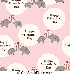 valentines pattern with elephants