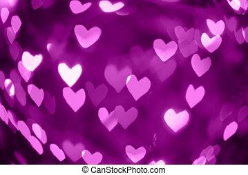 valentines, résumé, coeur, fond