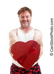 valentines, rapaz coração
