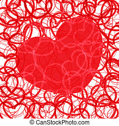 valentine`s red hearts background