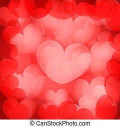 valentine`s red hearts background