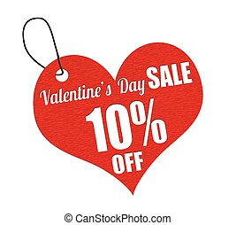 Valentines sale 10 percent off labe - Valentines sale 10...