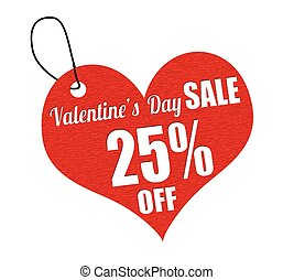 Valentines sale 25 percent off labe - Valentines sale 25...