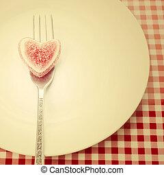 valentines, Saudação, cartão, Dia