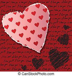 valentines, scrapbooking, kártya