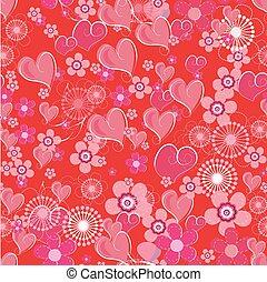 valentines, seamless, fondo
