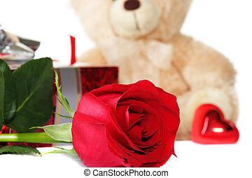 Valentines set focus on flower