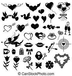 Valentines symbol set