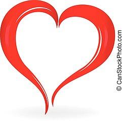 valentines, szív, jelkép, jel