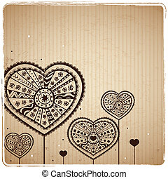 Valentine's Vintage Heart Greeting Card