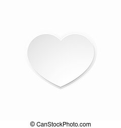 Valentines White Paper Heart