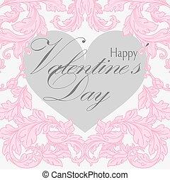 valentinestag, grüßen karte