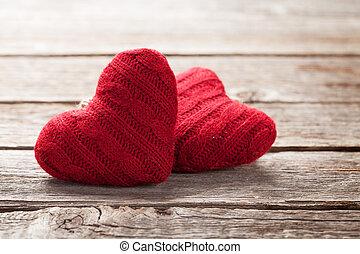 valentinestag, grüßen karte, mit, herzen