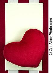 valentinestag, hintergrund, mit, herz, und, karte