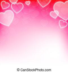 valentinestag, hintergrund, mit, herzen
