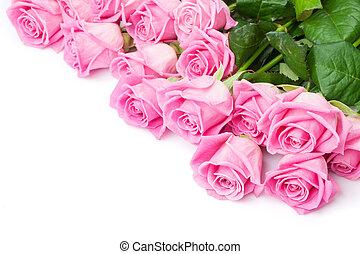 valentinestag, hintergrund, mit, rosafarbene rosen