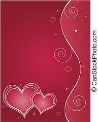 valentinestag, karte, gruß