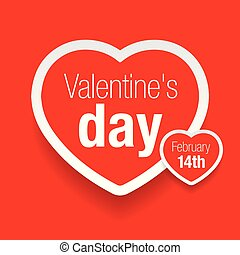 valentinestag, rotes herz