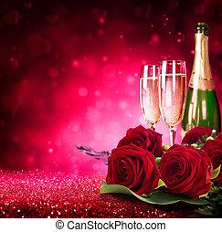 valentine%u2019s, día, brillante