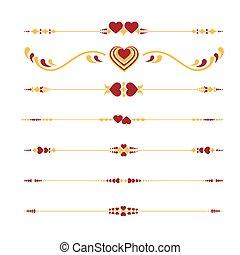 Valentine%u2019s Line ornaments