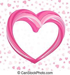 valentinkort, bakgrund, abstrakt, rosa, hjärta gestalta