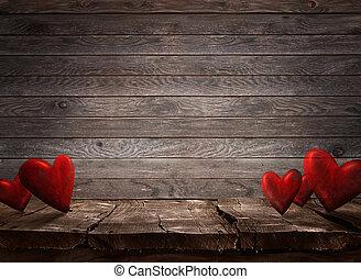 valentinkort, bakgrund, dag