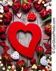 Valentinkort, dag, bakgrund