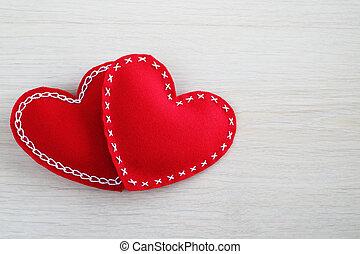 valentinkort dag, hjärtan