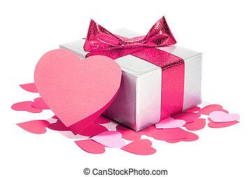 valentinkort dag, kärlek, gåva