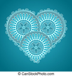 valentinkort dag kort, med, mönstrad, hjärta