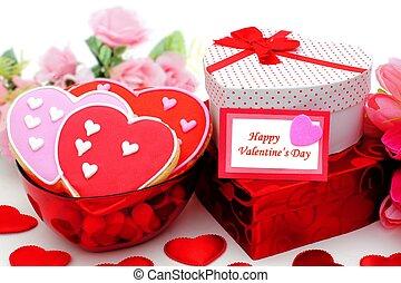 Valentinkort, dag, lycklig