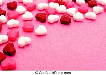 valentinkort, godis, bakgrund