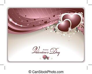 valentinkort, kort, elegant