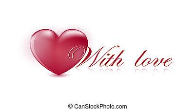 valentin`s, 心, 日, カード