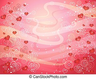 Valentin's day Background with Hearts