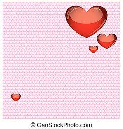 Valentinstag Hintergrund - Karte Valentinstag Herz Liebe...