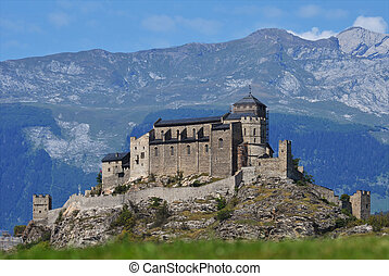 Valere castle in Sion, Switzerland
