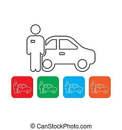 valet parking vector icon concept, isolated on white background