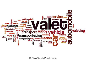 Valet word cloud concept