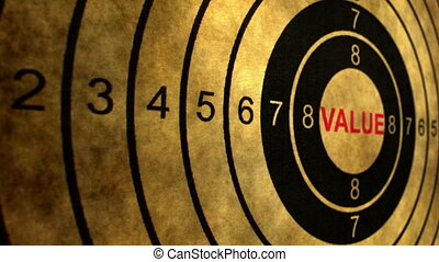 valeur, cible, coup, concept, chariot
