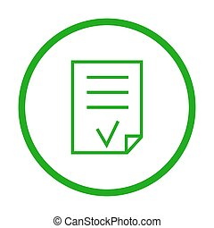 Valid Document vector icon.