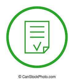 Valid Document vector icon.