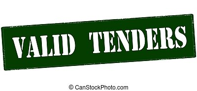Rubber stamp with text valid tenders inside, vector illustration