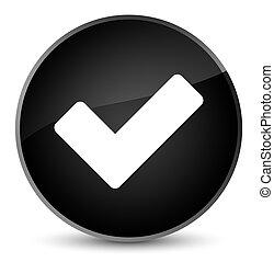 Validate icon elegant black round button