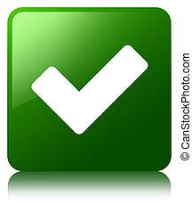 Validate icon green square button