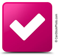 Validate icon pink square button