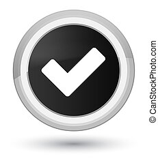 Validate icon prime black round button